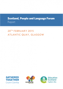 5 - Scotland People and Language Forum report - Copy